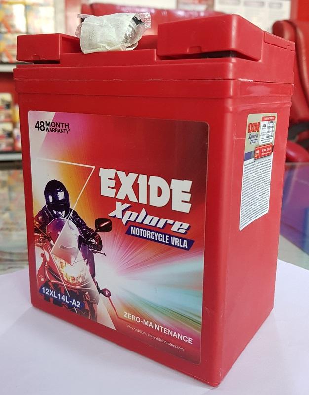 Exide xplore royal enfield self start battery xplore xl14la2