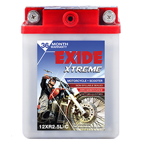 Exide Xtreme Discover battery XR2.5LC