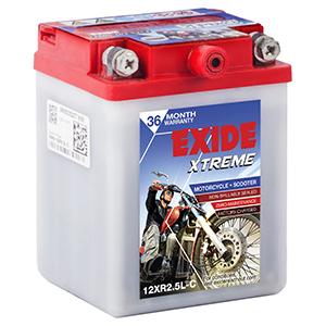 Exide Xtreme SPLENDOR BATTERY 12XR2.5LC