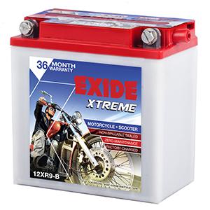 Exide xtreme apache 180r battery xt9b