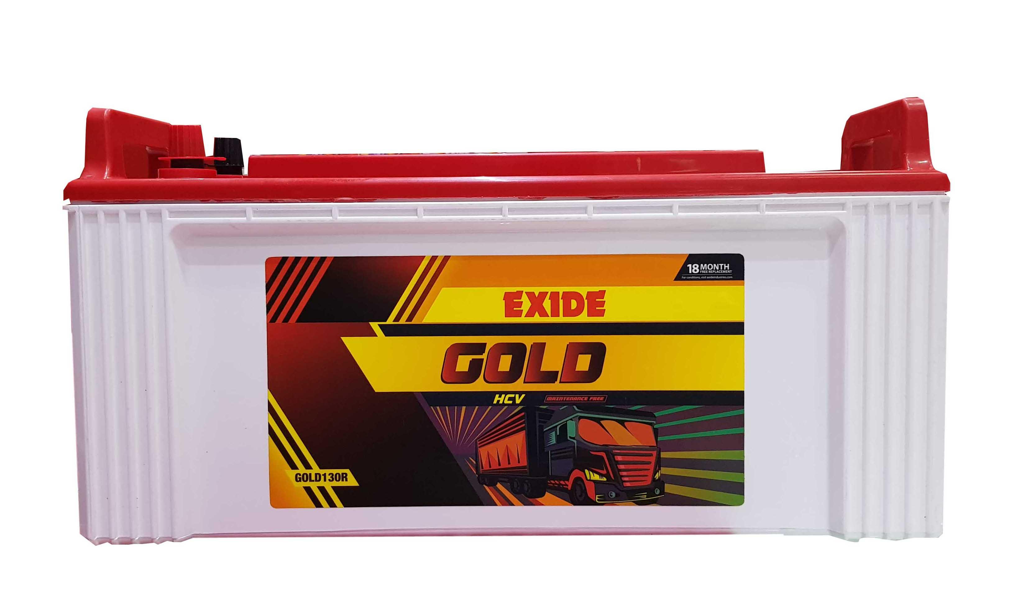 Exide Gold battery for truck 130 ah