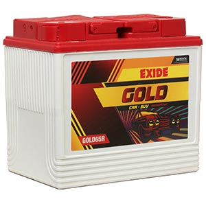 Exide car Gold Battery GOLD65R