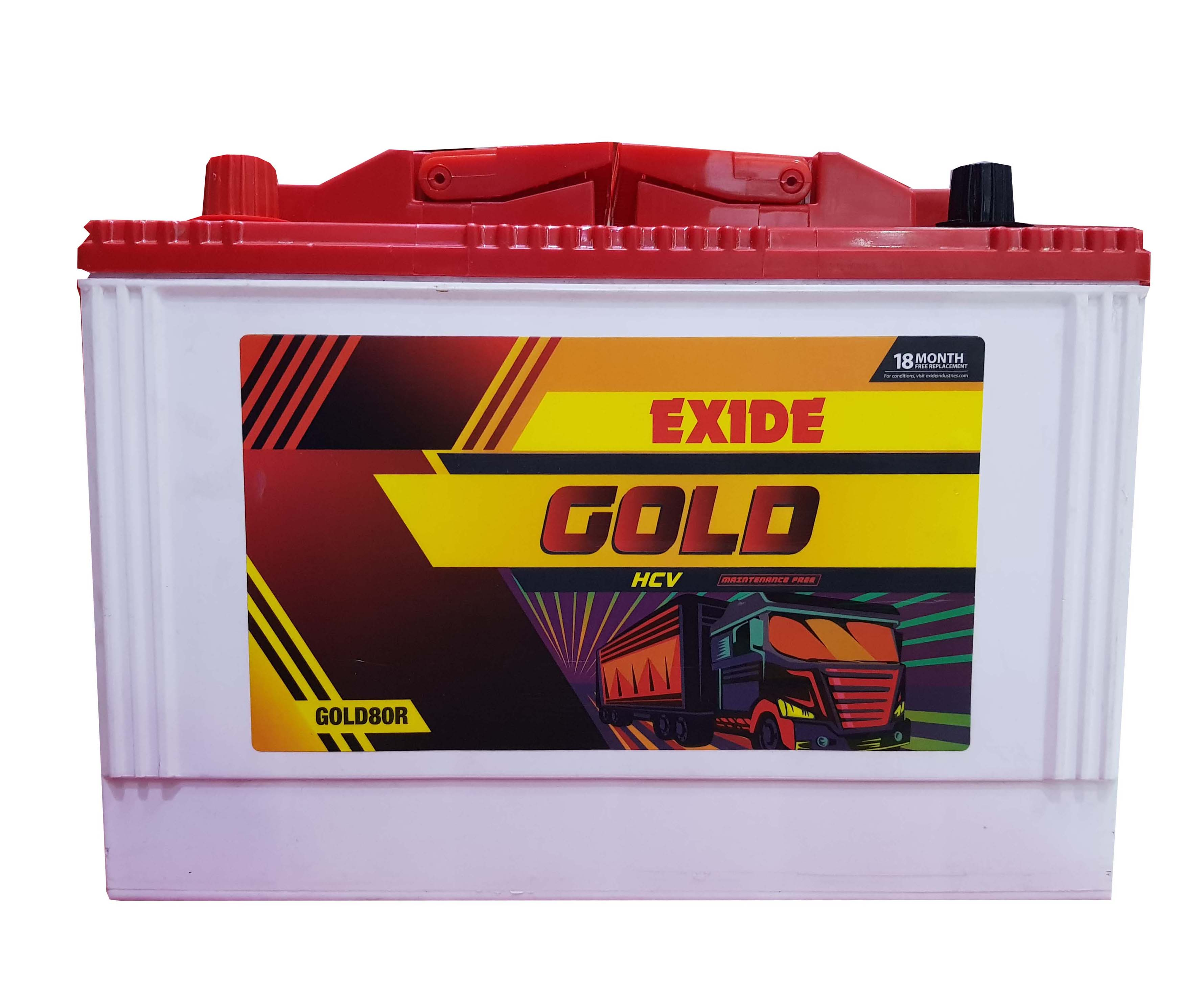 Exide Gold battery for tractor 80ah