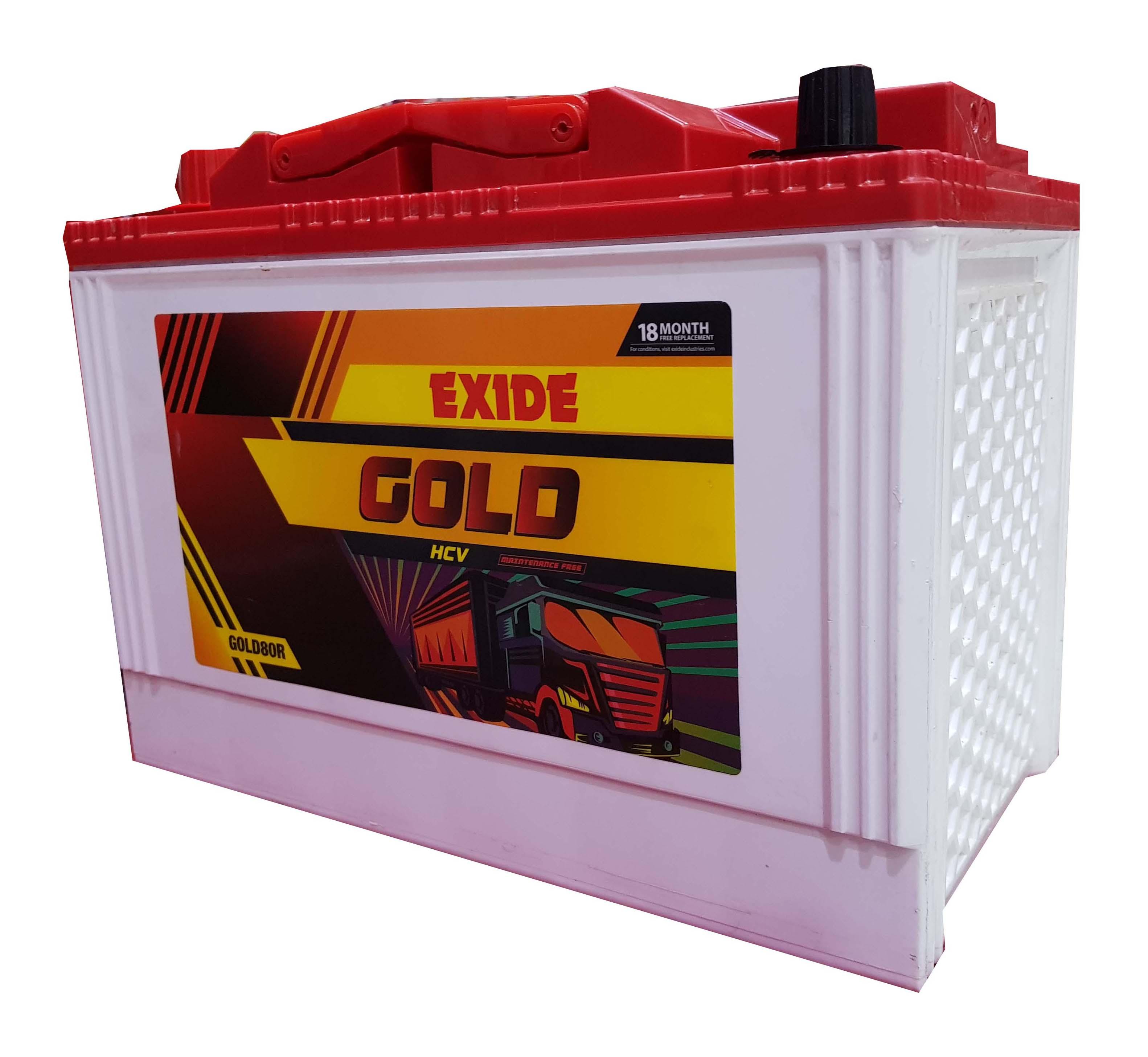 Exide Gold 80 ah battery for Sumo , safari