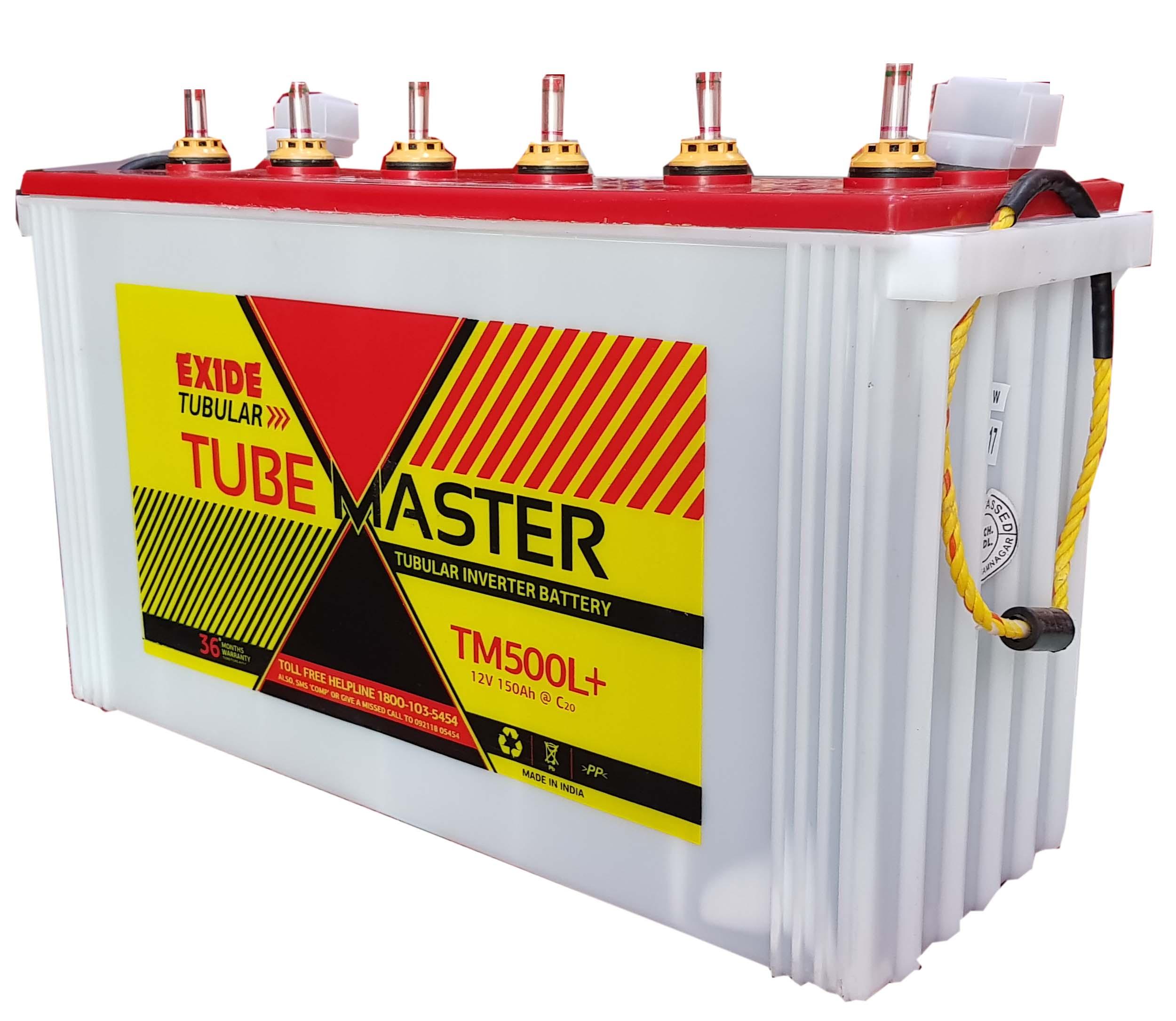 Exide Tubemaster 150 ah Tubular battery for inverter