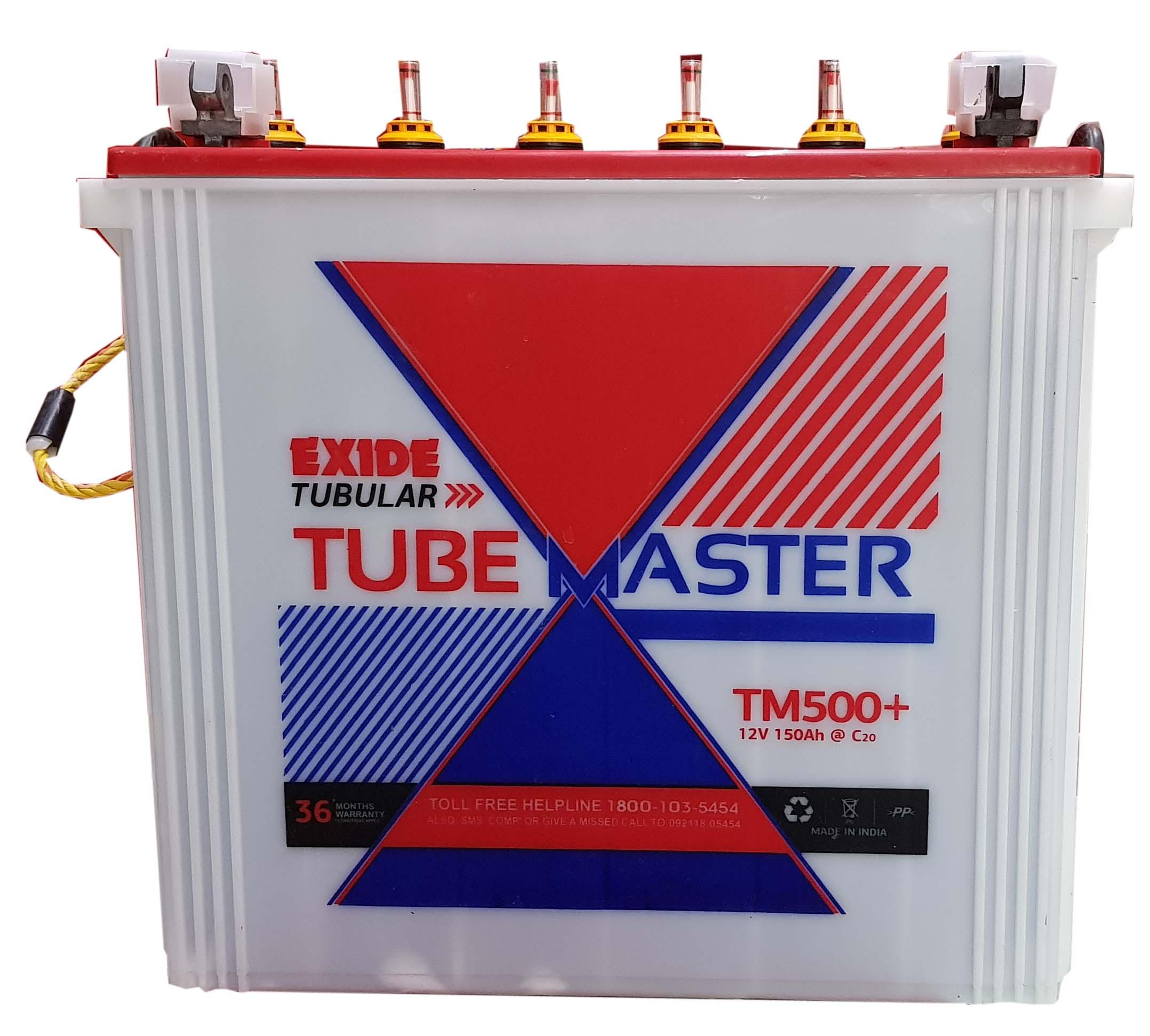 Exide 150 ah Tubular Tubemaster Tall Tubular inverter battery