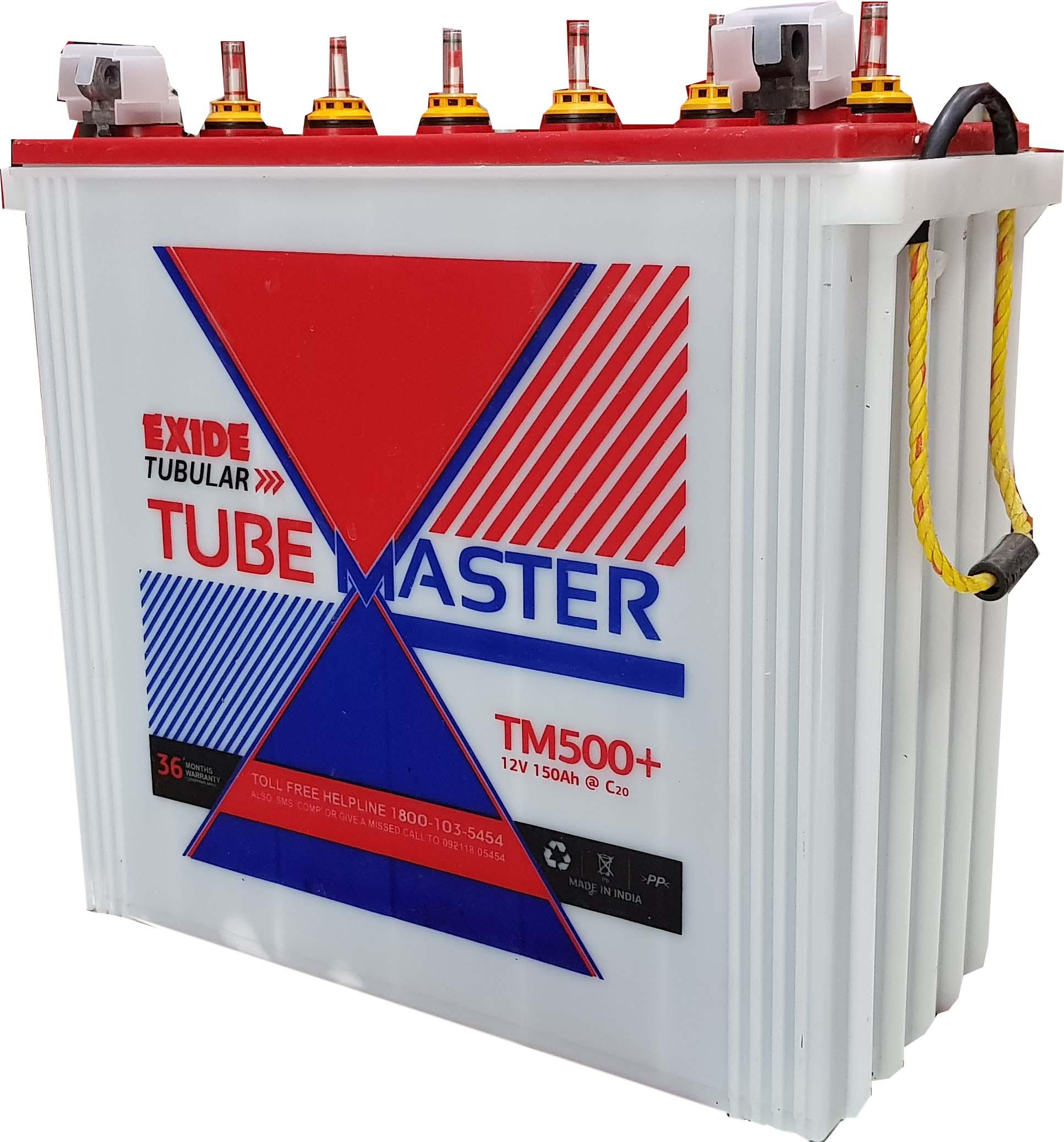 Exide Tubemaster Tall Tubular 150 ah battery for inverter